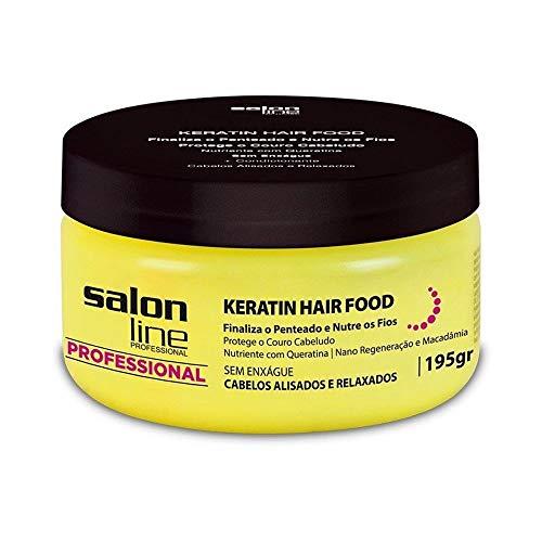 Linha Tratamento (Professional) Salon Line - Keratin Hair Food 195 Gr - (Salon Line Treatment (Professional) Collection - Keratin Hair Food Net 6.88 Oz)
