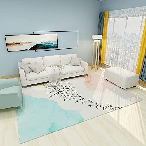 Alfombras alfombras habitacion Juvenil Alfombra Antideslizante Azul Rosa Crema Simple diseño Resistente a la decoloración Alfombra Cocina Alfombra recibidor 60*90CM