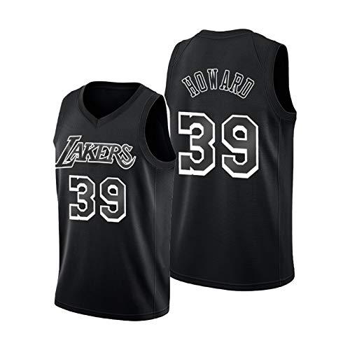 ZCGS Jersey Howard para hombre, Black Lakers #39 camisetas de baloncesto chaleco deportivo Swingman Jerseys Camiseta juvenil regalo (S-XXL) L