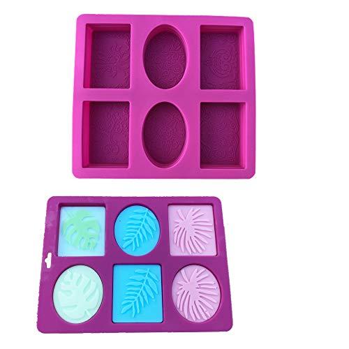 Seifenform, 6 Hohlraum Silikon Rechteckform für Kuchen, Brot, Keks, Süßigkeiten, Schokolade, 2 Stück, Machen Sie Ihre eigene hausgemachte Seife