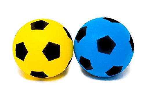E-Deals 2Stück (Größe 4) Soft Schaumstoff Schwamm Indoor Outdoor Fußball Fußball–(2 Zufallsprinzip ausgewählt–Blau, Rot, hellgrün und Gelb)