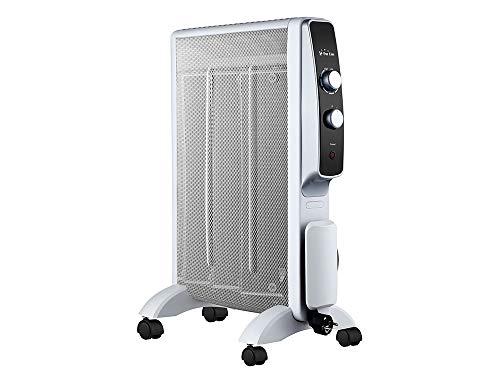 PURLINE Calefactor Radiador Eléctrico Bajo Consumo con Panel de Mica hasta 1500W, Termostato Regulable, Rápido Calentamiento permitiendo un Aumento de Temperatura prácticamente inmediato