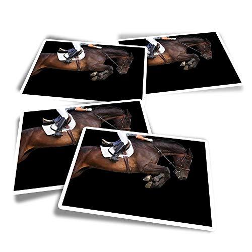 Pegatinas rectangulares de vinilo (juego de 4) – Calcomanías divertidas para ordenadores portátiles, tabletas, equipaje, reserva de chatarra, frigoríficos #45358