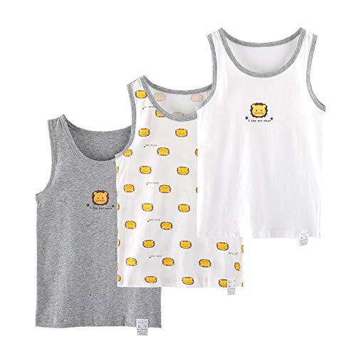 Pessica Kinder Warm Camisole Driedelig, Kinderen Mouwloos Bottoming Shirt Vest, Zacht En Ademend, Comfortabel En Niet Stevig, Gezond En Zacht