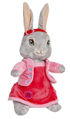 Peter Hase en vrienden pluche figuren, knuffels, knuffels voor kinderen, meisjes en jongens, 28 cm, verschillende karakters (grijs)