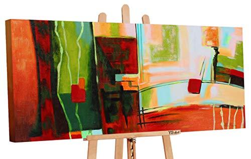 YS-Art   Dipinti a Mano Colori acrilici Graffiti   Quadro Dipinto a Mano   115x50cm   Pittura   Dipinti Modern   Quadri Dipinti a Mano   Marrone