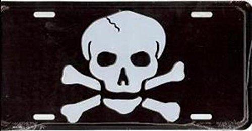Dixie Skull and Crossbones License Plate
