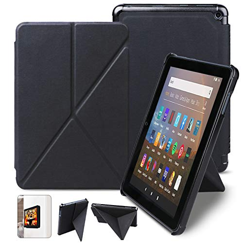 Case for Kindle Fire HD 8 Tablet and Fire HD 8 Plus Tablet (10th Generation,2020 Release),Slim Folding Standing Protective Magnetic with Auto Wake/Sleep-Black
