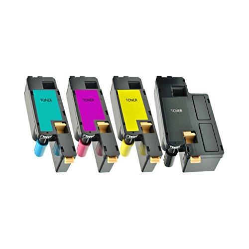 4 Toner kompatibel für Dell C1760 NW 1250 C 1350 1355 CNW 1765 NFW - 59311140-59311143 - Schwarz 2000 Seiten, Color je 1400 Seiten