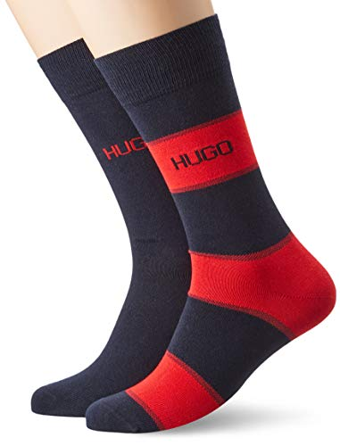 HUGO Herren 2P RS STRIPE CC Socken, Dark Blue401, 43-46