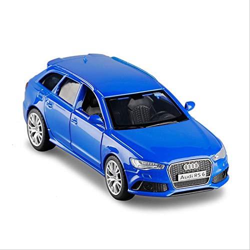 DXZJ Modelo De Coche De Aleación 1/36 para Audi RS6 Wagon, Modelo De Coche De Simulación, Puerta Abierta, Modelo De Coche De Metal, Regalos De Coche De Juguete para Niños (Color : Blue)