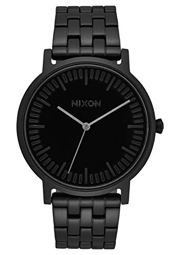 NIXON Porter A1057 - All Black - 50m Water Resistant Men's Analog Classic Watch (40mm Watch Face, 20-18mm Stainless Steel Band)