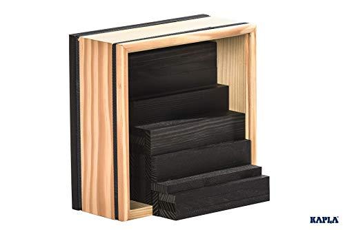 Kapla 9000157 Holzplättchen 40-teilig in Box, schwarz