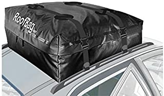 RoofBag Rooftop Cargo Carrier   Waterproof   Made in USA   1 Year Warranty   For Cars With Side Rails, Cross Bars or Basket  Includes Heavy Duty Straps