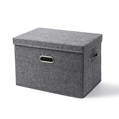 BAIGM Caja de almacenamiento plegable para ropa, cesta de almacenamiento, caja de almacenamiento de tela rectangular con tapa para armario, ropa, libros