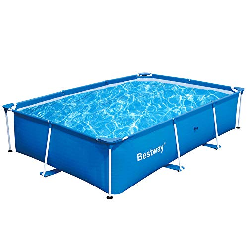 Bestway 56498 Deluxe Splash 9.8' x 6.7' x 26' Kids Rectangular Above Ground Swimming Pool (Pool...