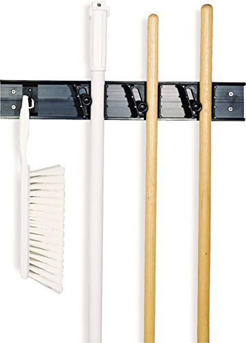 Carlisle 4073100 Roll #039N Grip Mop Broom and Tool Holder / Storage System 3 Positions  1 Hook