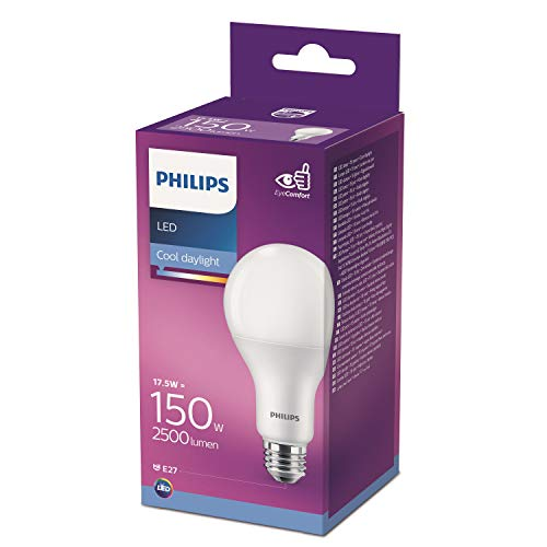 Philips Lighting Bombilla LED gota 150 W casquillo E27, 6500 K, luz fría, no regulable 17,5 W