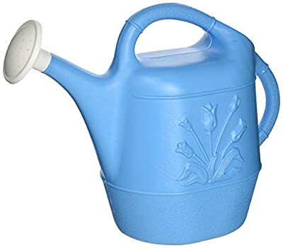 Union 63066 Watering Can with Tulip Design, 2 Gallon, Caribbean Blue