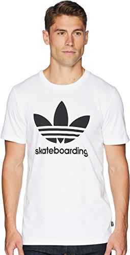 adidas Skateboarding Men's Clima 3.0 Tee White/Black Medium