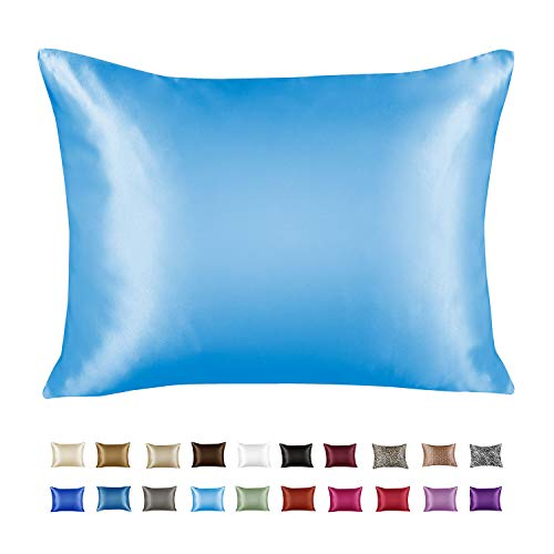 ShopBedding Luxury Satin Pillowcase for Hair Blissford (King 1-Pack), Jewel Blue