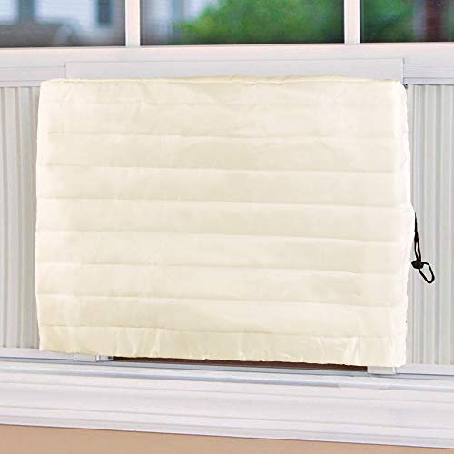 Hptmus Indoor Air Conditioner Cover - Ac Covers for Inside Window Ac Unit Cover for Inside Double Insulation with Elastic Edges 21' W x 15' H x 3' D