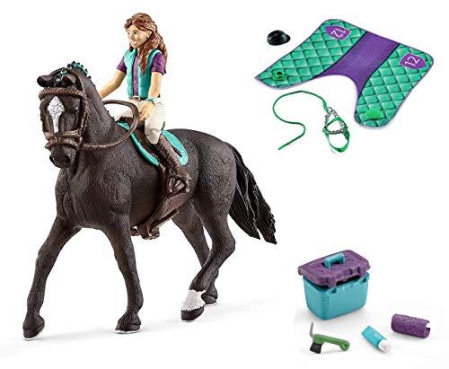 3in1-SET Schleich Pferde Horse Club - Lisa & Storm mit Decke Halfter und Pflegeset