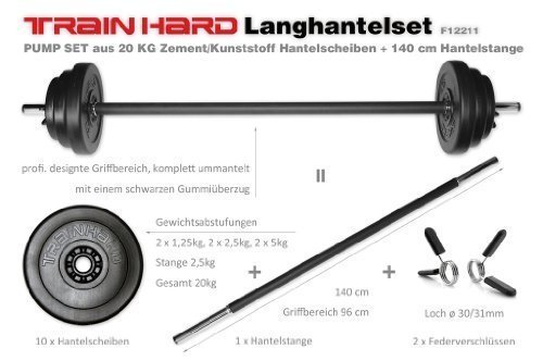 TrainHard Langhantel-Set