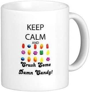 Keep Calm Candy Crush Mug 11 oz by Debbie's Designs