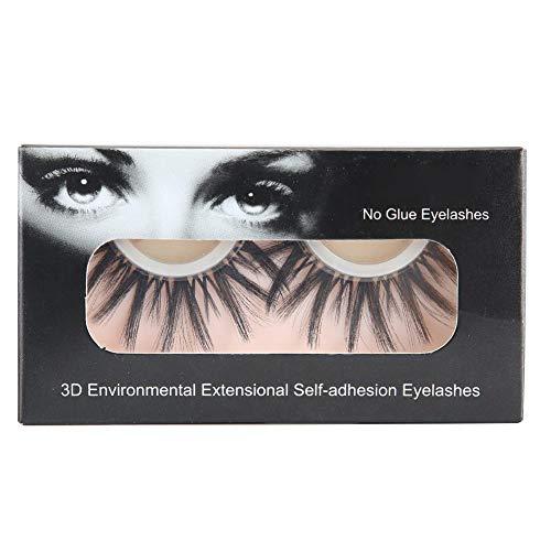 Dgtrhted Réutilisable 3D Faux Cils Auto-adhésif Mink Lashes Extensions Maquillage des Yeux bouclés naturels (3D-11)