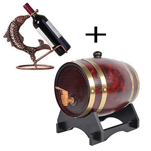 Decoratieve wijn vat Premium eiken vat - eiken hout wijn vat Dispenser, gebruikt om whisky, bier, wijn, bourbon, cognac, hete saus, enz grote capaciteit eiken vat
