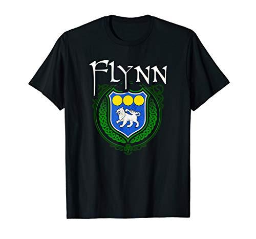Flynn Surname Irish Last Name Flynn family crest T-shirt