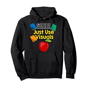 Shhh Just Use Visu for Special Education Teacher Pullover Hoodie