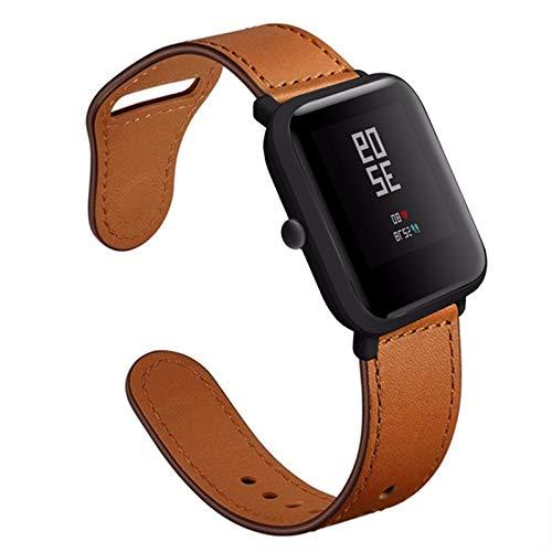 Fhony Piel Correa Compatible con Apple Watch 38mm 40mm 42mm 44mm Reemplazo Banda para Mujeres y Hombres Hebilla Piel Genuina para Apple Watch Series se/6/5/4/3/2/1,Marrón,42/44mm
