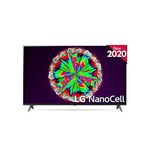 LG 55NANO806NA - Smart TV 4K NanoCell 139 cm, 55' con Inteligencia Artificial, Procesador Inteligente Quad Core, Deep Learning, Local Dimming, HDR 10 Pro, HLG, 17,6 Kg, 1232 x 771 x 232 mm