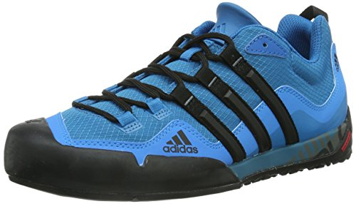 Adidas Terrex Swift Solo, Walking Shoe Hombre, Dark Solar Blue/Core Black/Solar Blue, 45 1/3 EU