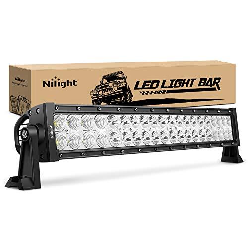 "Nilight - 70003C-A 22"" 120w LED Light Bar Flood Spot Combo Work Light Driving Lights Fog Lamp Offroad Lighting for SUV Ute ATV Truck 4x4 Boat,2 Years Warranty"