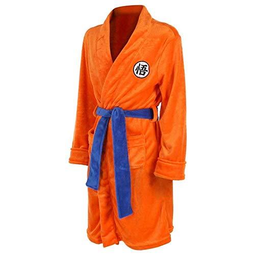 Niños Adultos Dragon Ball Albornoz Son Goku Cosplay Disfraz Bata de baño Ropa de Dormir Bata de Felpa Mujeres Hombres Pijama Abrigo