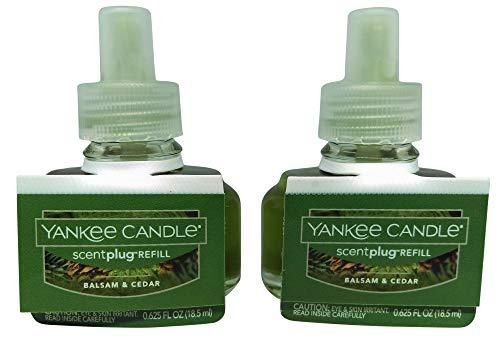 YANKEE CANDLE - Fragancia eléctrica para el hogar de Balsam y Cedar