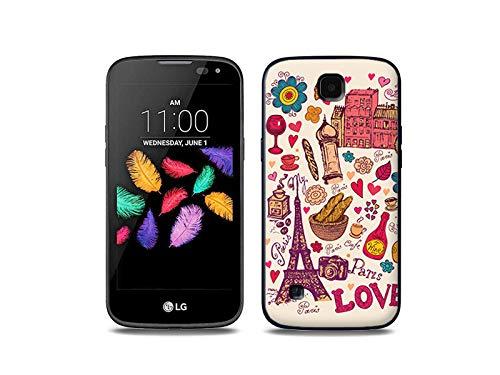 etuo Handyhülle für LG K3 LTE (K100) - Hülle, Silikon, Gummi Schutzhülle - Paris Traum