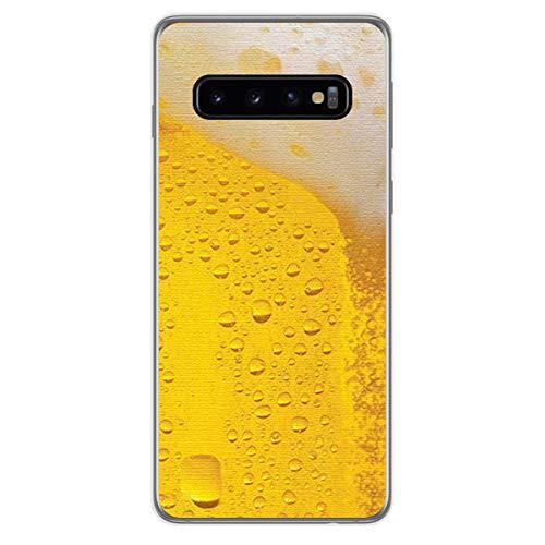 Tumundosmartphone Funda de Gel TPU para Samsung Galaxy S10 Plus diseño Cerveza Dibujos