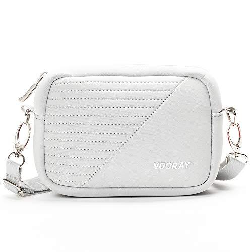 Vooray Sidekick Crossbody Phone Bag for Gym, Shopping, and Travel (Gray Moto)