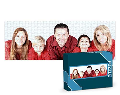 Puzzles personalizados 1000 piezas con foto y texto   Máxima calidad de impresión   Diferentes tamaños disponibles (9 a 2000 piezas)   Tamaño: 1000 piezas (68x48 cm) - Sin caja personalizada