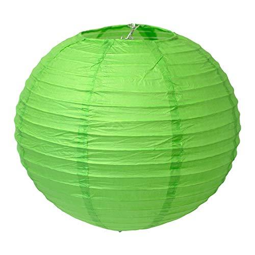 Creativery Papier Lampion 25cm (grün 580) // Laterne Hochzeit Party Wohnungsdeko Hängedeko Raumdeko Geburtstag Party Feier