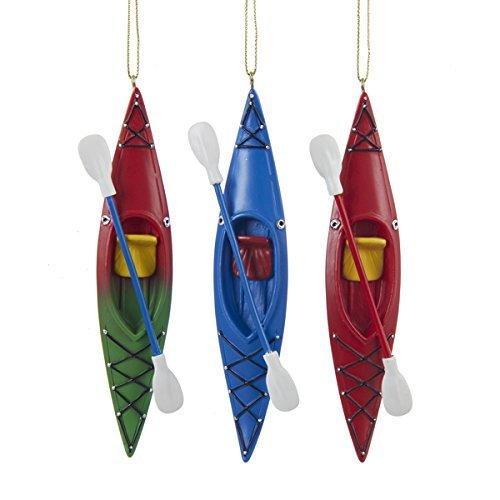 Kurt Adler 5.25' Resin Kayak Ornament 3/asstd.