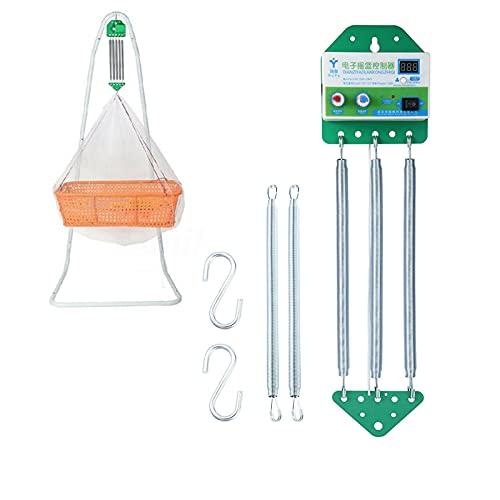 Elektrische Babyschaukel Controller Hängende Babywippe Controller Cradle-Steuerung mit Einstellbar Timer für die Baby Federwiege und Baby Hängematte