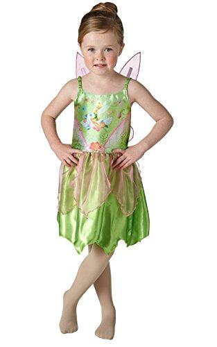 Peter Pan - Disfraz de Campanilla para niña, infantil talla 5-7 años (Rubie's 620690-M)