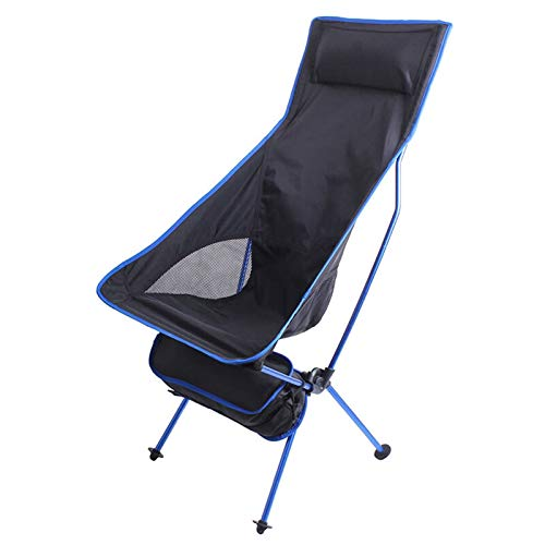BSLBBZY Pesca Silla Plegable portátil de Camping al Aire Libre Viajes ChairHome Oficina Asiento de la Silla de la Luna Silla de Exterior de Ocio (Color : Blue)