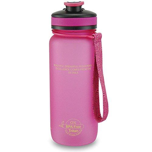 SMARDY Wasserflasche Trinkflasche [BPA-frei Tritan] 650ml pink - auslaufsicher - umweltfreundlich