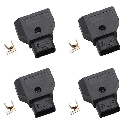 『4点 オスDタップコネクタ DSLRリグ電源ケーブルVマウントアントンバッテリに対応』の1枚目の画像
